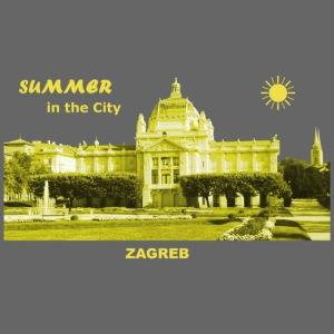 Sommer Zagreb Kroatien Istrien Nationaltheater