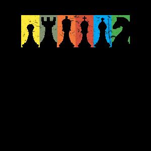 Schach Spiel Schachfigur Retrofarben Brettspiel