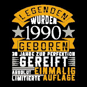 30. Geburtstag Legenden 1990 geboren Geschenk
