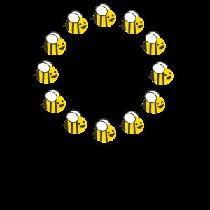 EU Flagge mit Bienen für Imker und Bienenzüchter