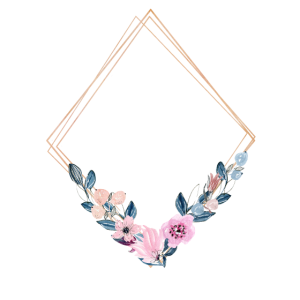 Dreieck Blumen personalisierbar