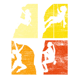 Klettern Mädchen Bergsteiger
