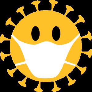 Smilie Virus Grippe Erreger Corona Mundschutz