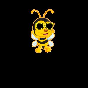 Coole Biene mit Sonnenbrille