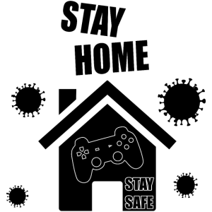 Corona Virus Stay Home Stay Safe Gaming