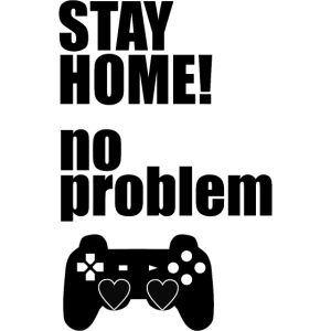 corona virus stay home gaming controller