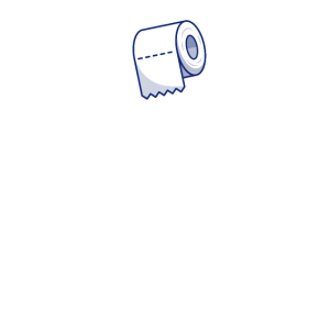 Toilettenpapier - Keep Calm and stay home