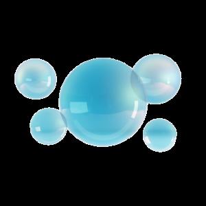 Hintergrund mit blauen Blasen