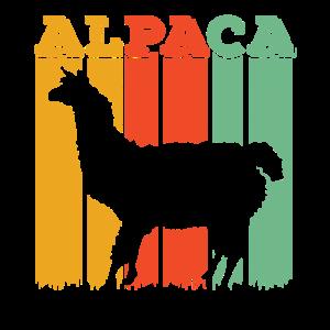 Retro Lama Liebhaber Geschenk   Nette Alpaka-Tierliebe L.
