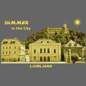 Sommer Ljubljana Slowenien Hauptstadt City Burg