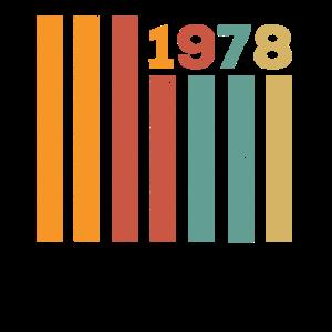 1978 Vintage Geburtstag Männer Frauen