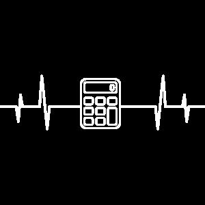 Herzschlag Taschenrechner Mathematik Mathe Rechner