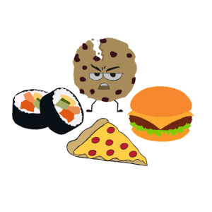 Cookie Pizza Burger Sushi Fast Food Baby Kinder