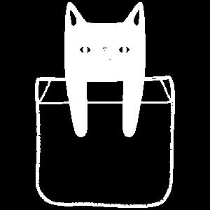 Hängende Katze in der Brusttasche