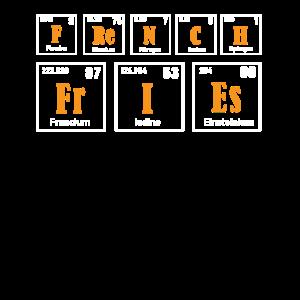 Pommes Frites Periodensystem Elemente Funny Fry Lov