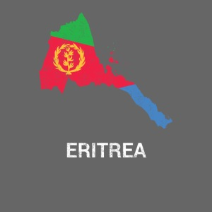 Eritrea country map & flag