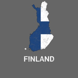Finland (Suomi) country map & flag