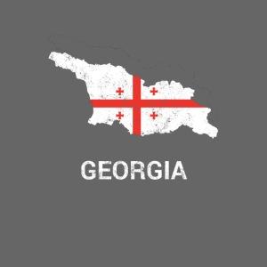 Georgia (Sak'art'velo) country map & flag