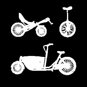 Retro Fahrradkurier Lastenrad Fahrradtour