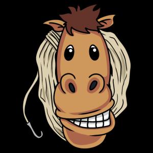 Lustiges Cowboy Pferd Lasso Pony Fantasy Rodeo