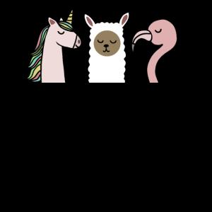 Beste Freunde Einhorn Flamingo Lama