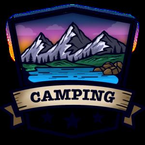 Camping und Berglandschaft
