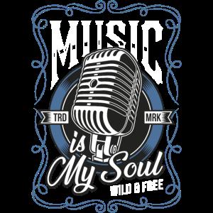 Musik ist meine Seele Vintage T-Shirt