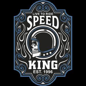 Speed King Vintage Motorrad T-Shirt