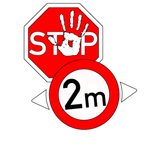Stop Abstand Shirt
