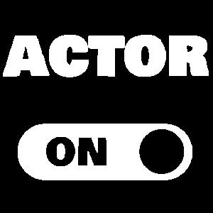On actor als Schauspieler