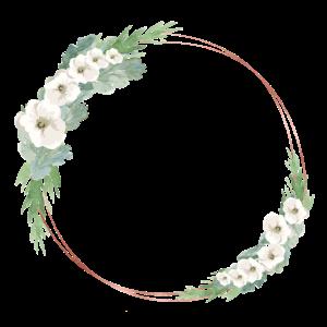 Rosegold Gruen Weiss Blumenkranz personalisierbar
