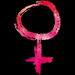 Girl Weiblich Symbol Bunt