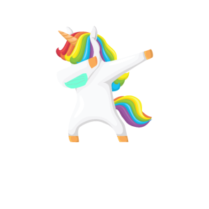 Einhorn dabbing unicorn Mundschutz mask
