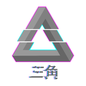 Penrose Dreieck - Glitch Vaporwave