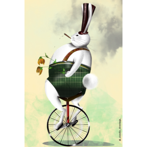 POSTER RABBIT ILLUSTRATION FANTASY