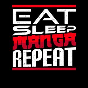 Eat Sleep Anime Repeat Manga Anime Otaku Geschenk