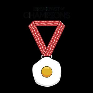 Lustige Frühstücksgrafik Das Frühstück der Champions