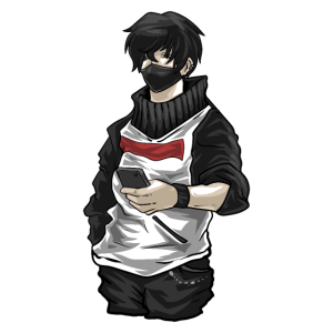 Anime männliche Figur Kawaii Guy Japanischer Manga