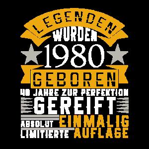 40. Geburtstag Legenden 1980 geboren Geschenk