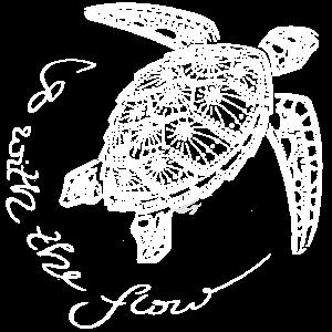 Sea Turtle Dot Art weiß - go with the flow - Damen
