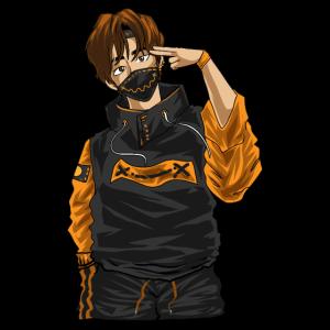 Anime Charakter Held Kawaii Männlich Japanischer Manga