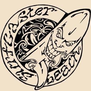 Surfcaster Beach Svart Logo