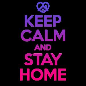 KEEP CALM AND STAY HOME CORONA QUARANTÄNE GESCHENK