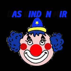 Clown Kind in mir blau rot Nase Geschenkidee