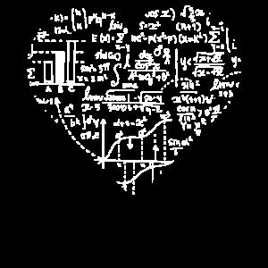 Mathe Herz Witziges Wissenschafts Shirt