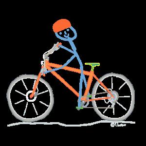 Fahrradfahren Strichmännchen Sport Freizeit Spaß