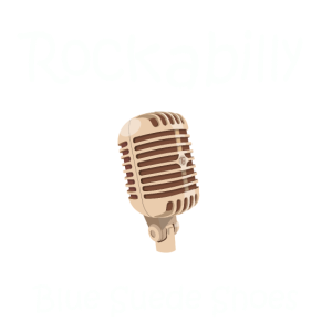 Rockabilly Blue suede shoes retro party geschenk
