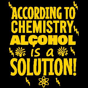 Laut Chemie ist Alkohol eine Lösung