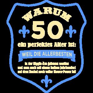 Warum 50 ein perfektes Alter. 50 Jahre Geburtstag.
