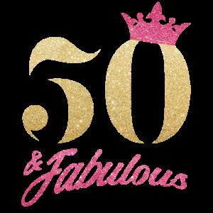 Glitter 1970 50 Jahre Geburtstag Pailletten Krone